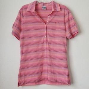 🎄 nike collar short sleeve top size medium